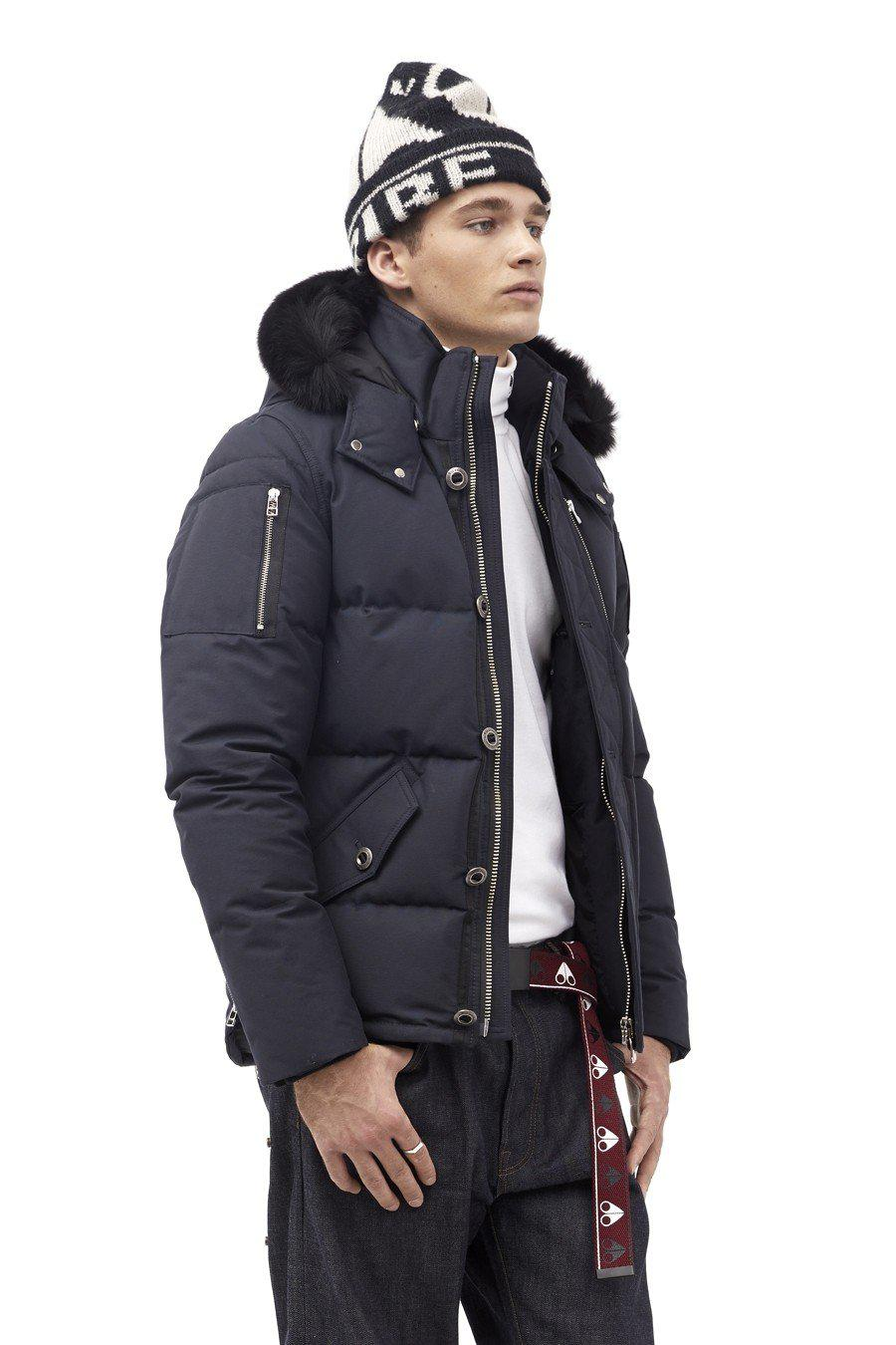 Moose Knuckles 3Q Men Jacket-Jackets-Classic fashion CF13-S-Navy/Black fur-Classic fashion CF13