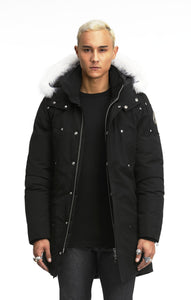 Moose Knuckles Mens Stirling Parka Jacket-Jackets-Classic fashion CF13-XL-Black-Classic fashion CF13