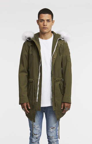 MOEKERKE SUMMER CANVAS PARKA-Jackets-Moose Knuckles-S-Classic fashion CF13