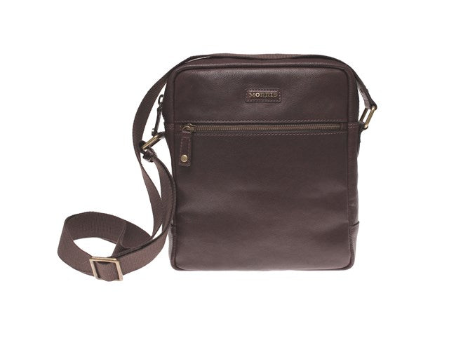 Morris Small Male Messenger Bag-Bags-Classic fashion CF13-Dark Brown-Classic fashion CF13