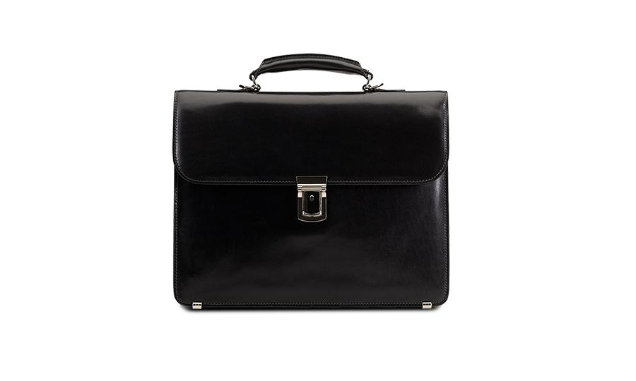Baron Small Leather Briefcase-Bags-Classic fashion CF13-Classic fashion CF13