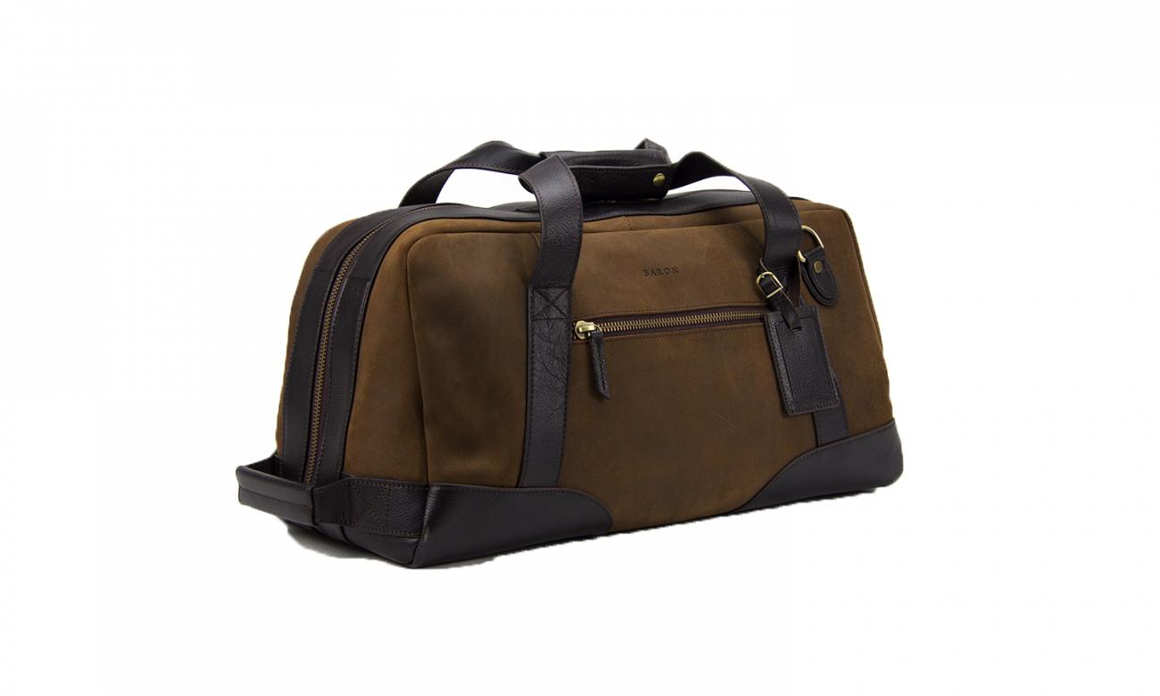 Baron Small Suede Duffel Bag-Bags-Classic fashion CF13-Brown-Classic fashion CF13