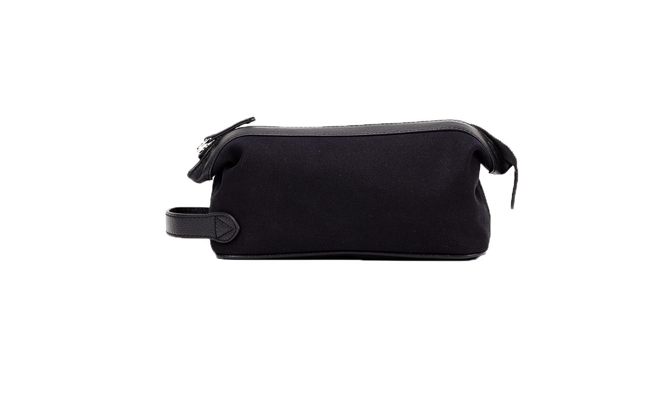 Baron Canvas Wash Bag-Bags-Classic fashion CF13-Black-Classic fashion CF13