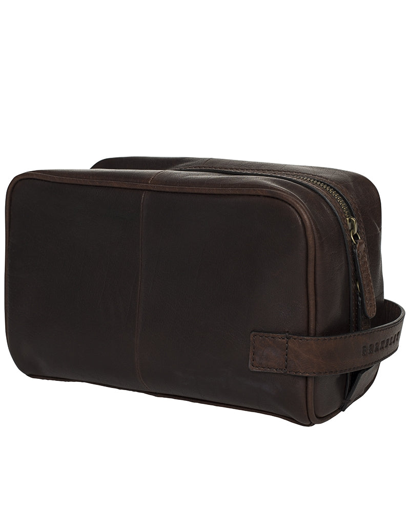 Berkeley Woodley Washbag-Bags-Classic fashion CF13-Dark Brown-Classic fashion CF13