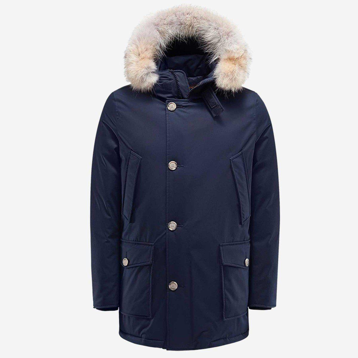 Woolrich Laminated Cotton Parka Hc-Jacket-Woolrich-M-DARK NAVY-Classic fashion CF13