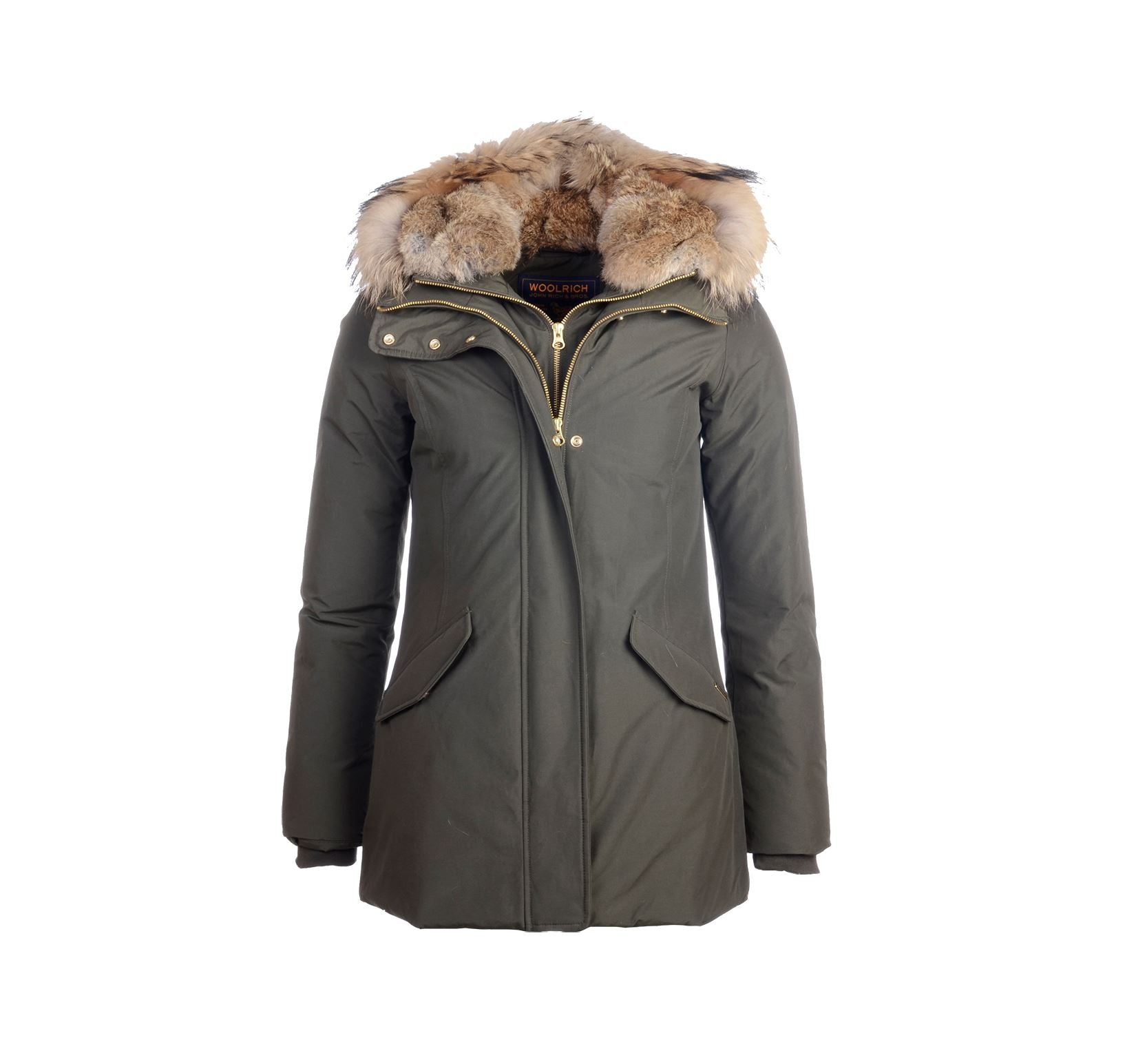 WOOLRICH 'Valentine' parka-Jacket-Classic fashion CF13-XS-Olive-Classic fashion CF13