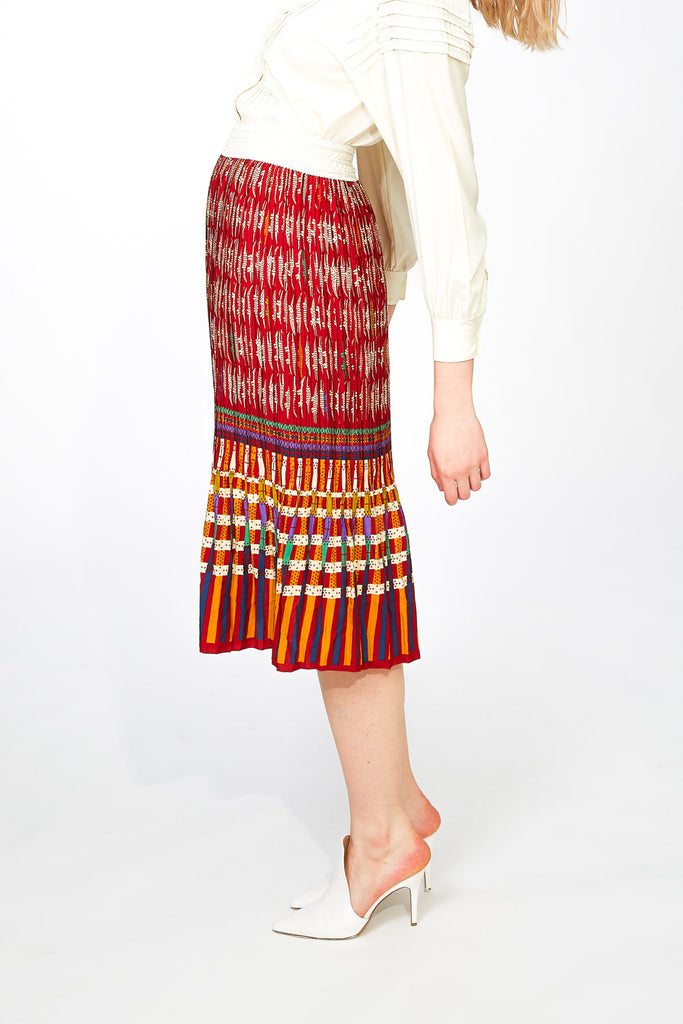 Ethnic pleatted skirt