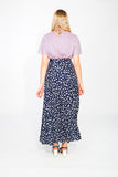 Maxi skirt with apples pattern