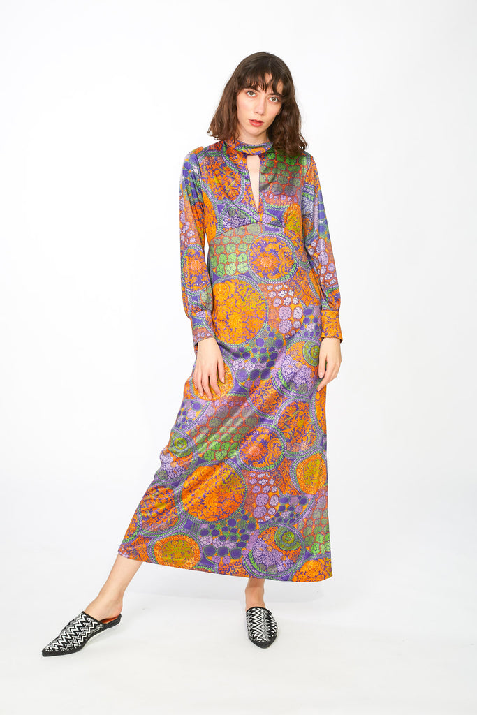 Maxi colorful printed dress