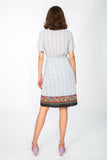 Short sleeve dress with paisley print