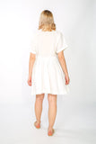 White Cacharel button up dress