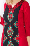 Moroccan red and black kaftan