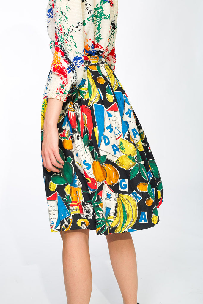 Amazing printed midi skirt