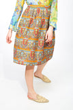 Colourful patterned skirt