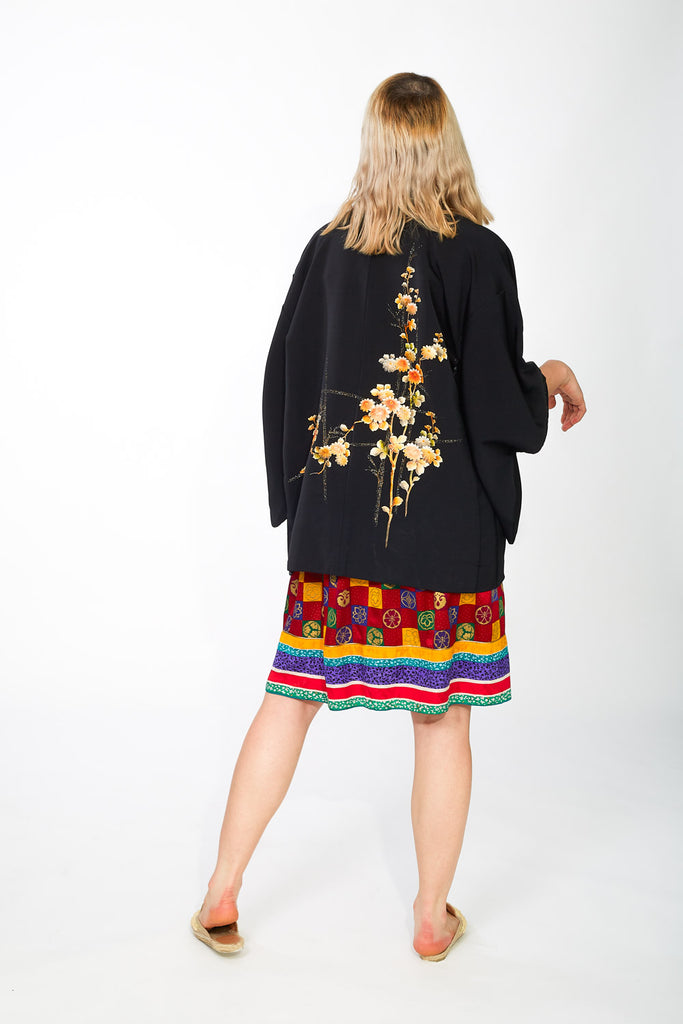 Haori Kimono with beautiful flowers design