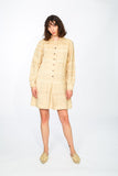 Linen collared dress