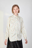 White shirt with geometrical pattern