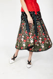 Skirt with floral pattern