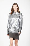 Button-up Metallic Shirt