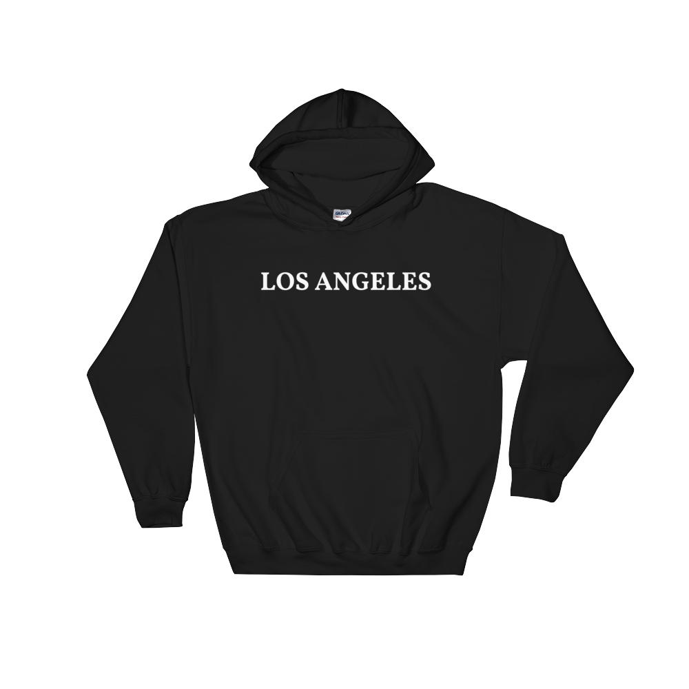 Los Angeles White Logo Hooded Sweatshirt