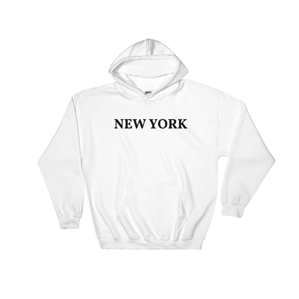 New York Black Logo Hooded Sweatshirt
