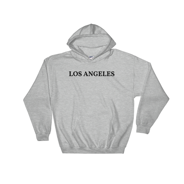 Los Angeles Black Logo Hooded Sweatshirt