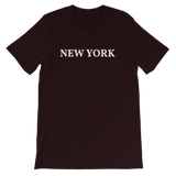 New York White Logo T-Shirt