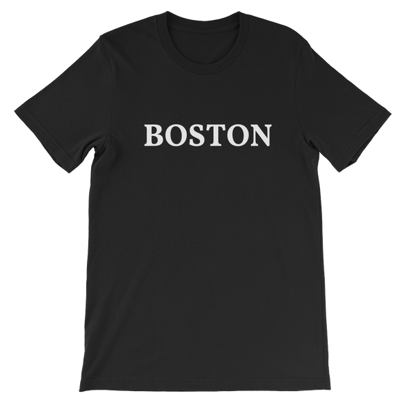Boston White Logo T-Shirt