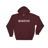 Boston White Logo Hooded Sweatshirt