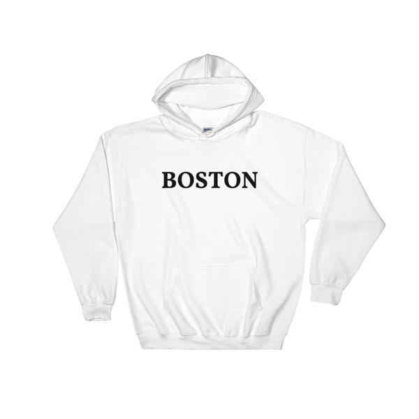 Boston Black Logo Hooded Sweatshirt
