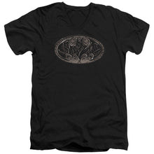 Batman - Bio Mech Bat Shield Short Sleeve Adult V Neck