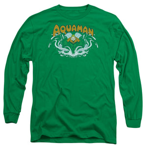 Dc - Aquaman Splash Long Sleeve Adult 18/1