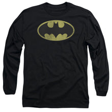 Dc - Retro Bat Logo Distressed Long Sleeve Adult 18/1