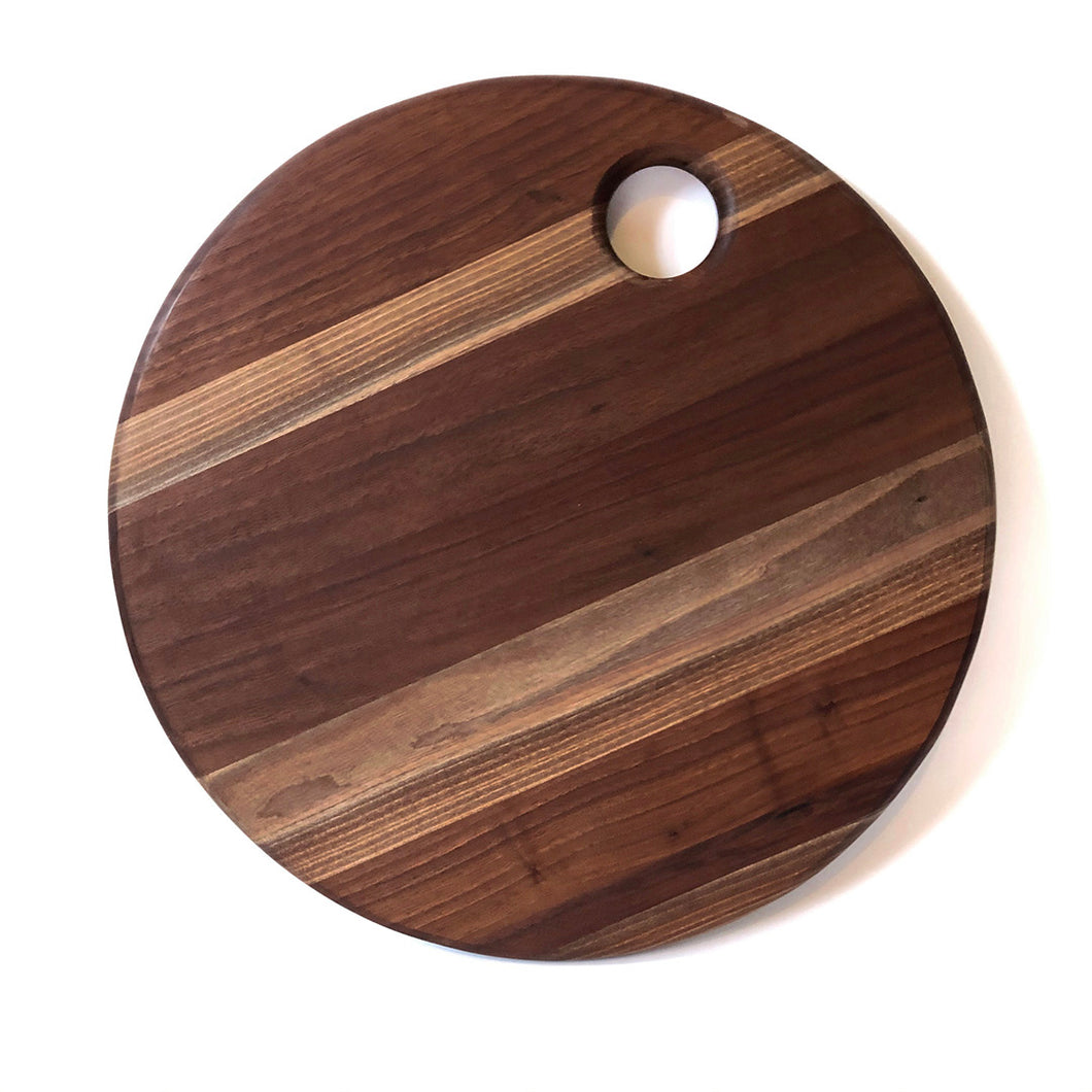 Handmade in Ottawa - Laminated Black Walnut Cutting Board - Round