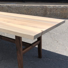 Handmade Walnut and Maple Coffee Table
