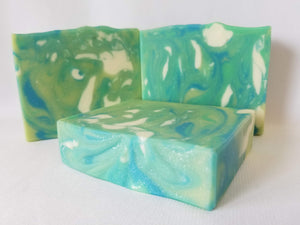 Irish Wave Handmade Soap scented with crisp citrus zest, jasmine, lily, and musk by Fae and Whimsy Soapworks