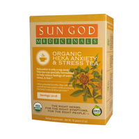 Sun God Organic Anxiety, Stress Tea and CBD Tincture 500mg - Little Mary and Jane