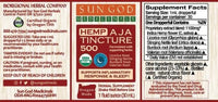 Sun God Inflammation Nighttime CBD Tincture 500mg - Little Mary and Jane