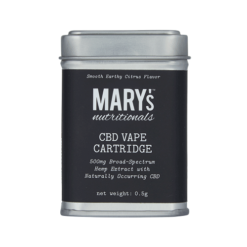 Mary's Nutritionals Broad Spectrum CBD Vape Cartridge - Little Mary and Jane
