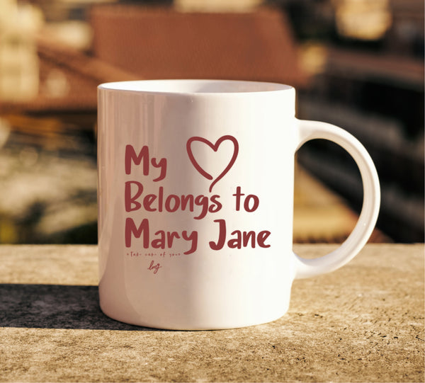 Heart Belongs to Mary Jane Mug - Little Mary and Jane