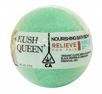 Kush Queen Relieve CBD Bath Bomb - 25mg - Little Mary and Jane