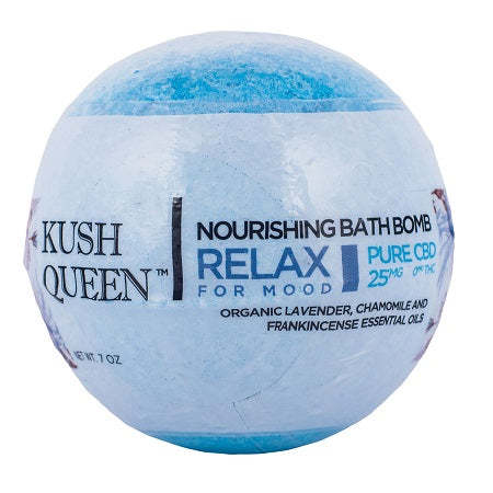 Kush Queen Relax CBD Bath Bomb - Little Mary and Jane