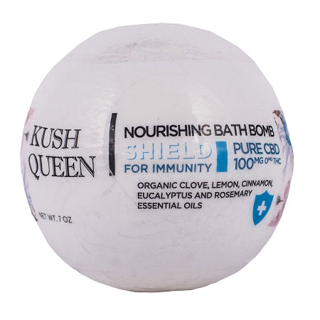 Shield for Immunity CBD Bath Bomb by Kush Queen - Little Mary and Jane