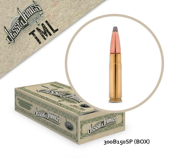 Jesse James 300 Blackout 150gr Soft Point Box of 20 Rounds