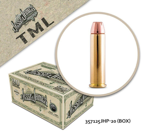 Jesse James TML 357 Magnum 125 gr Jacketed Hollow Point  - Box of 20