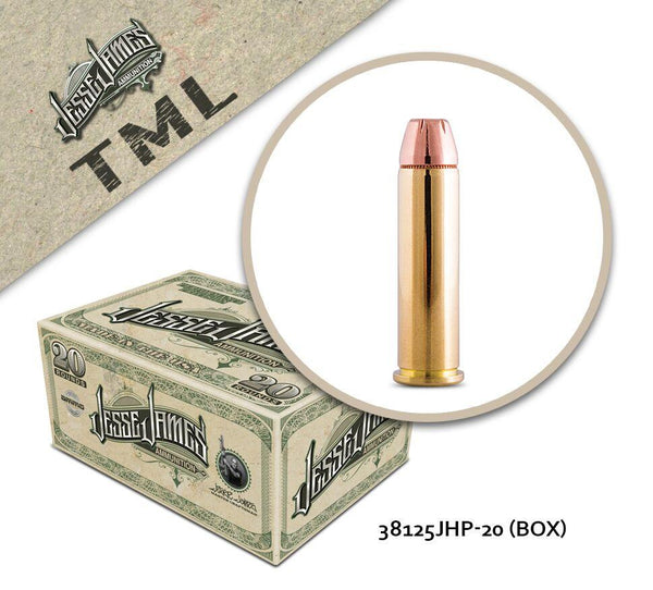 Jesse James TML 38 Special 125 gr Jacketed Hollow Point  - Box of 20