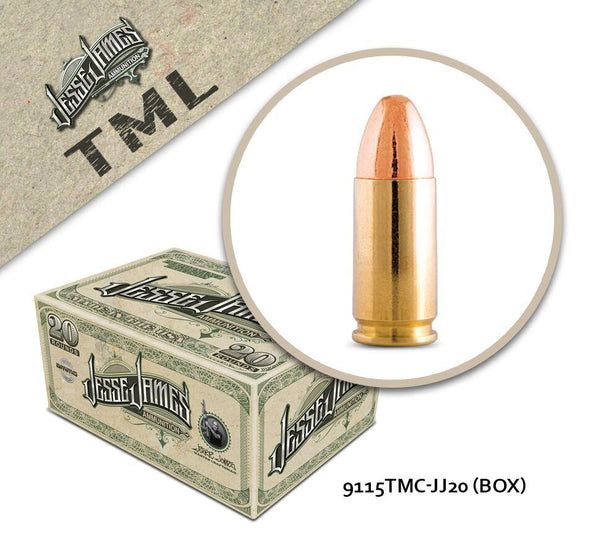 Jesse James TML 9 mm Luger 115 gr Total Metal  - Box of 20