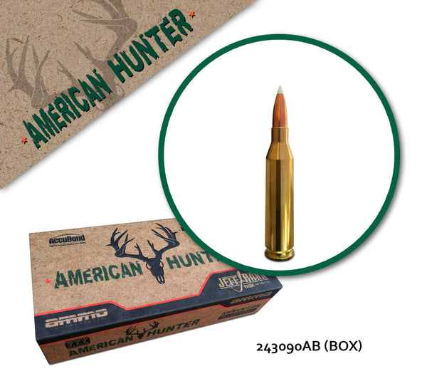 American Hunter 243 Winchester 90 GR - 20 Rounds