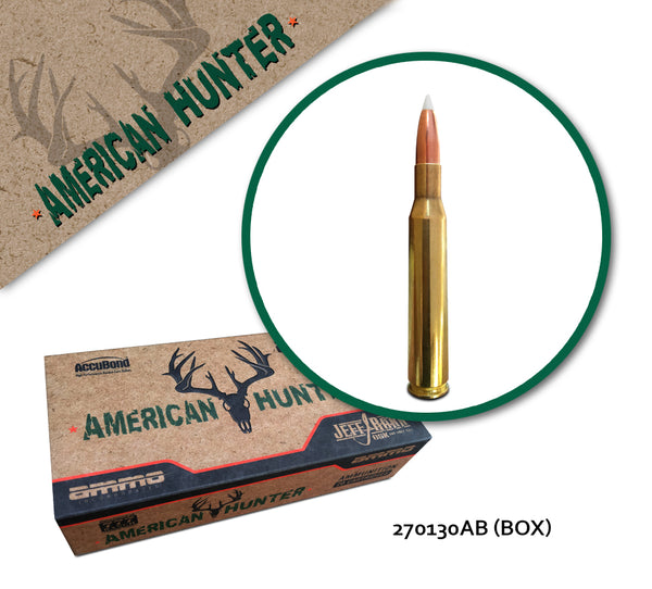American Hunter 270 Winchester 130 gr AccuBond - 20 Rounds