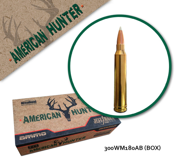 300 Winchester Magnum 180 gr AccuBond Jeff Rann Series - Box of 20
